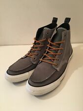 Converse Chuck Taylor All Star Grey Leather Hiker High Top Moc Toe 9 Men's NEW