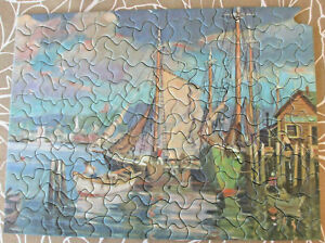 Vintage Tuco Picture Puzzle Along Cape Cod 12 x 16in Over 200 Pieces, 1940's