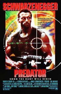 Predator (1987) Original Single Sided Movie Poster - Schwarzenegger