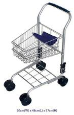 NEW Children's Metal Frame Supermarket Shopping Trolley Silver TOY
