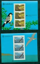 EUROPA 1986 Azores + Madeira Souvenir sheets NH, VF Scott $24.00