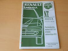 notice technique RENAULT LAGUNA particularités moteur G9T 703 et boîte auto SU1