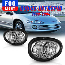 For 98-04 Dodge Intrepid Fog Light Clear Lens Bumper Front Lamp Replacement Pair (Fits: Dodge Intrepid)