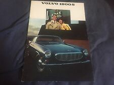 1969 Volvo P 1800S  Sports Car Color Brochure Catalog Prospekt