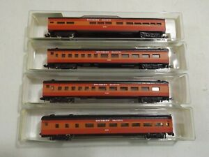 N gauge Model Power (4) car Southern Pacific daylight passenger set in orig bxs