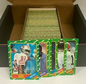 1986 Topps Football Complete Set 396/396 NM to NM-MT w/ Jerry Rice RC HOF