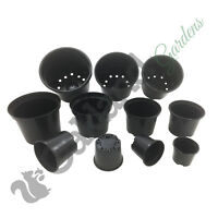 Strong Black Plastic Plant Pot Flower Pots 1 To 20 Litre Garden Planter Herb