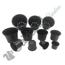 Strong Black Plastic Plant Pot Flower Pots 1 To 20 Litre Garden Planter Herb