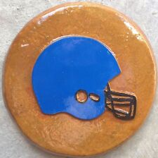 Football helmet 8 plaque, stepping stone, plastic mold, concrete mold
