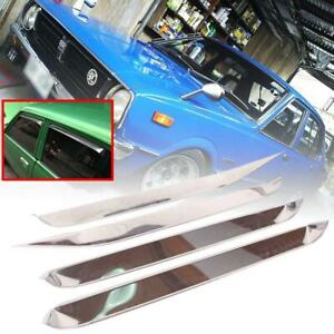 Fit Toyota Corolla KE30 TE31 KE55 Sedan 4DR 1974-81 Rain Visor Windshield Chrome