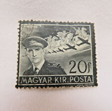 Magyar Posta Hungary Postage Stamp ~ 1942 Mourning Stamp for Stephen Horthy