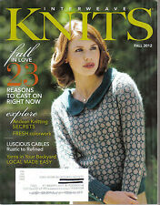 Interweave Knits Knitting Magazine Fall 2012 Fall in Love 23 reasons to cast on