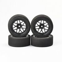 4Pcs 40R Foam Tires&Wheels Rims12mm Hex For HPI HSP RC 1:10 On Road Racing Car