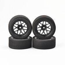 4Pcs 40R Foam Tires&Wheels Rims12mm Hex For HPI HSP RC 1:10 On Road Racing Car