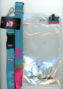 Super Bowl LIV Ticket Holder, Colorful Lanyard & Pin 54 NFL Miami 49ers Chiefs A
