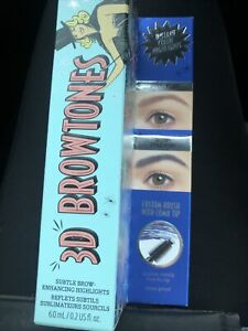 Benefit 3D Browtones Subtle Brow Colour Highlights Rich Deep Blue 6ml NEW STOCK