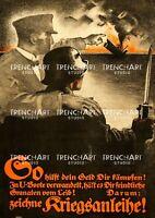 Poster Print WW1 WWI U-boat German submarine Imperial German Navy Kaiserliche