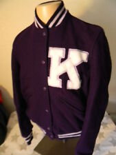 KANSAS STATE UNIVERSITY WILDCATS varsity purple wool jacket men's S 36 KSU