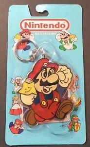 Original 1989 Mario Nintendo of America ACE Keychain Sealed NES era RARE 1988
