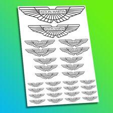 Aston Martin Racing voiture boot bonnet decal Autocollants Logos badge emblème