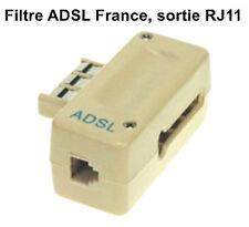 Filtre ADSL France prise téléphone murale PTT gigogne / connecteur femelle RJ11