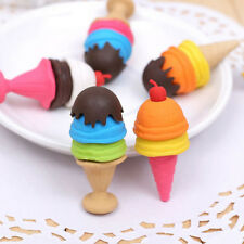 Cute Cartoon Ice Cream Style Eraser Soft Rubber Kids Stationery Random Colour FR