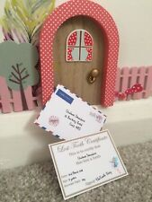 Personalised miniature Tooth Fairy lost tooth certificate and envelope