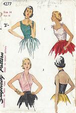 1953 Vintage Sewing Pattern B32 HALTER BLOUSE & CUMMERBUND (R917)