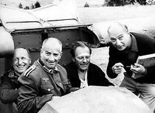PHOTO LA GRANDE VADROUILLE - BOURVIL, LOUIS DE FUNÈS, GÉRARD OURY EN 11X15 CM