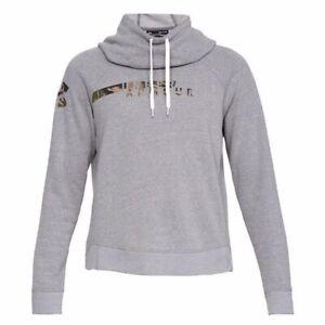 Under Armour Women's XXL Gray UA Favorite Fleece Camo Logo Pullover Hoodie NWT