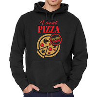 I want Pizza not your opinion Spruch Sprüche Comedy Spaß Kapuzenpullover Hoodie