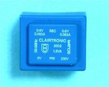 2 x clairtronic lr701897 trasformatori contenenti PCB in 230V AC 50 / 60Hz USCITA 2 X 9V @ 0.083 un