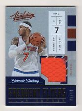 CARMELO ANTHONY 2016-17 ABSOLUTE FREQUENT FLYERS JERSEY SP # /10 NEW YORK KNICKS