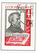 Russia Famous Writer literary critic Belinski stamp 1961