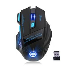 ZELOTES 2.4Ghz Wireless Ergonomic Gaming Mouse Adjustable Optical Mice USB M3L7