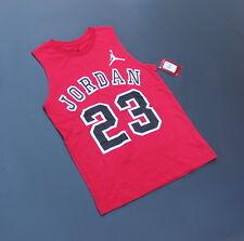 Nike Jordan Jumpman Jersey T Size L 12-13 yrs Red  Black (NWT Retail $20)
