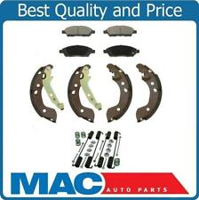 New Ceramic Pads Organic Brake Shoes Springs for Nissan Versa 12-15 & Note 15-17