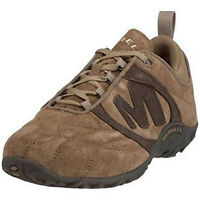 Merrell Striker Goal Lace Soft Brown Suede Leather Trainers Size 5.5 Eu 38.5 New