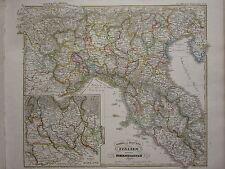 1846 SPRUNER ANTIQUE HISTORICAL MAP ~ NORTHERN ITALY HOHENSTAUFEN MAYLAND