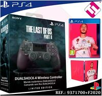 EDICION LIMITADA MANDO PS4 DUALSHOCK THE LAST OF US 2 PLAYSTATION 4 + FIFA 2020