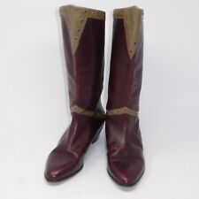 "Marmolada Italian Made Leather Brown 1.5"" Heel Boots Womens sz EUR 35 USA 5"