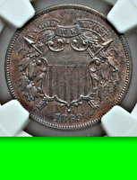 1869 NGC PR63 RB 600 Minted █ Non-Doctored █ Looks PR64 RB █ Two Cents 2C Piece