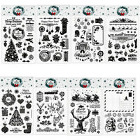 Christmas Deer Transparent Clear Rubber Stamp Silicone Scrapbooking DIY Crafts