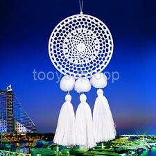 1x White Macrame Dreamcatcher Home Furnishing Wall Hangings Pendant Ornament