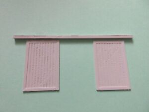 """3 D Printed Sliding Doors  """"00"""" for Scratch  Building  Factory Warehouse  2 sets"""