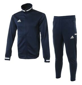 Adidas Men TEAM 19 Track Jackets Training Suit Set Navy GYM Jacket Pant DY8838