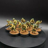 Painted 28mm Bolt Action US Infantry ×10 Tabletop Standard Warlord Games
