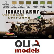 ISRAELI ARMY VEHICLES & UNIFORMS COLOR Acrylic Paint Set 6x20ml  LIFECOLOR CS-32
