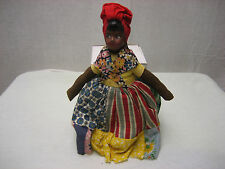 Vintage African Clothes Garb American Doll Red Hat about 12 Inches Very Rare