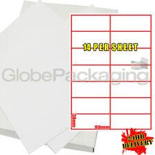 500 Hojas De Impresora De Etiquetas de Laser 14 por página (7000)